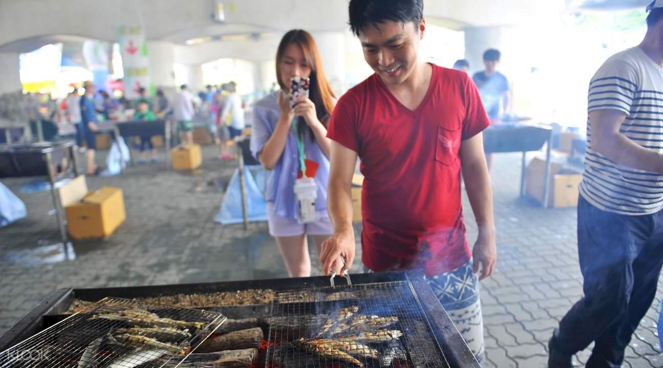 south korea  bonghwa eun-uh sweet fish festival