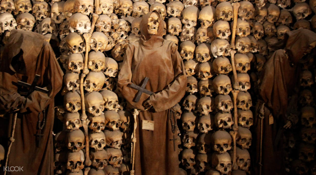 the mummified remains of Capuchin friars inside the Capuchin Crypt