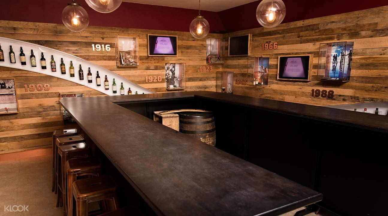 interiors of irish whiskey museum