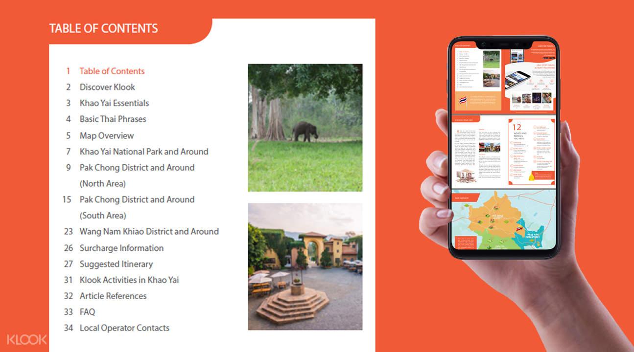 exclusive tour brochure for khao yai national park