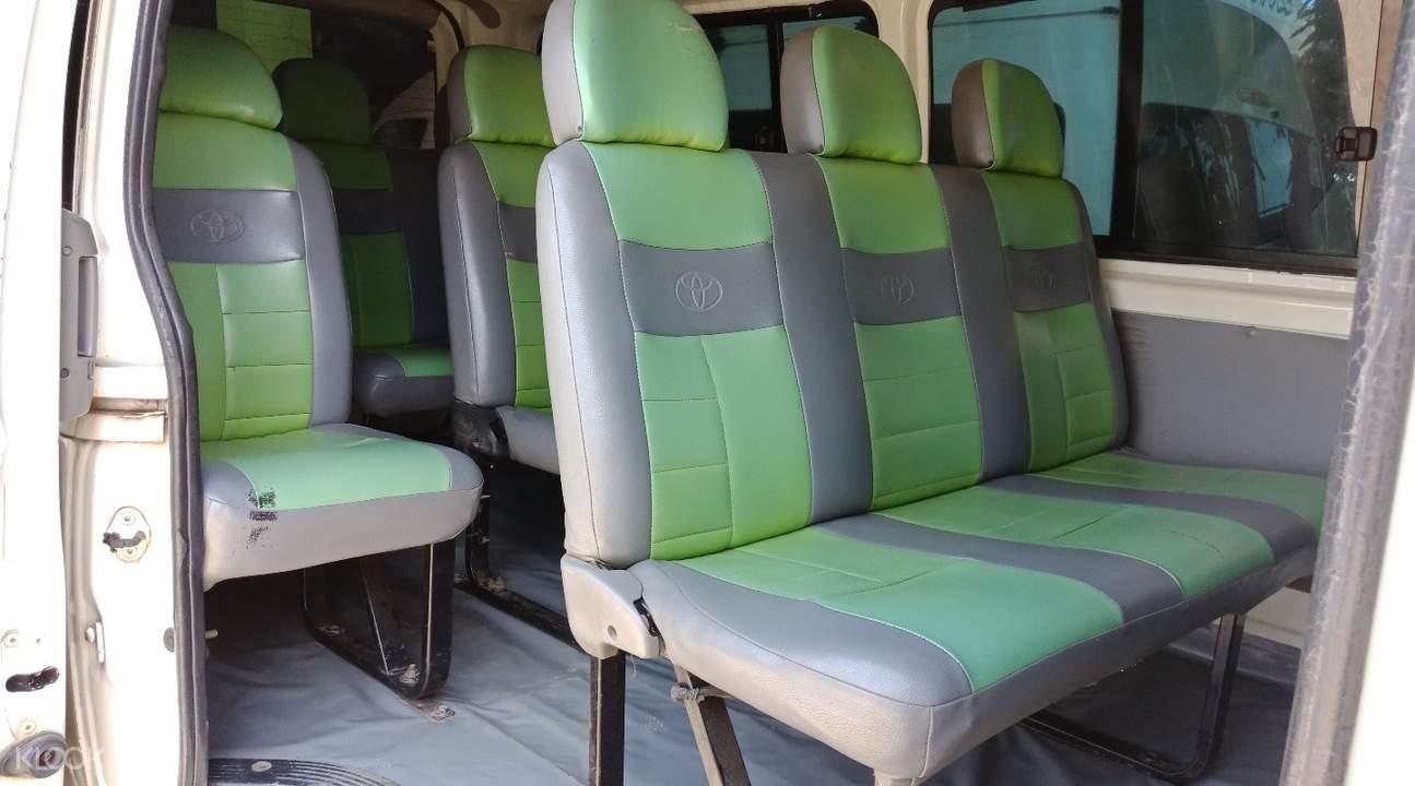 爱妮岛至沙邦往返接送11座车