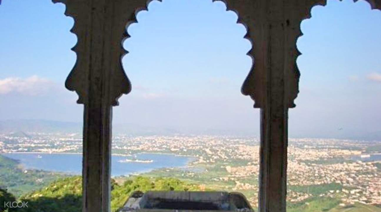 View from the top of monsoon palace