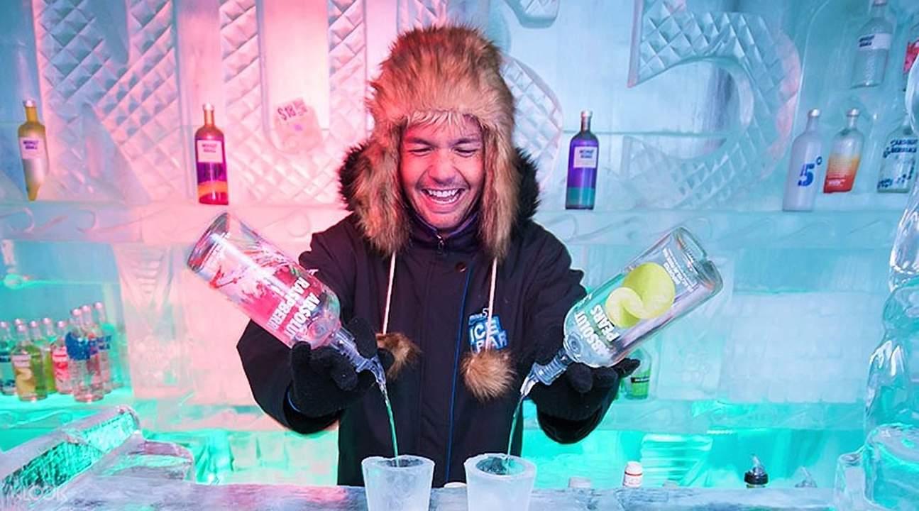 皇后镇零下5度冰吧现调鸡尾酒