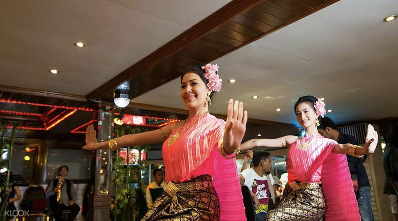thai classical dance chao phraya white orchid river cruise bangkok