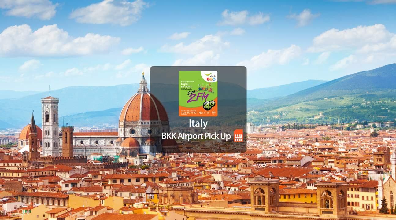 Italy Prepaid 4G SIM Card (BKK Airport Pick Up) from AIS