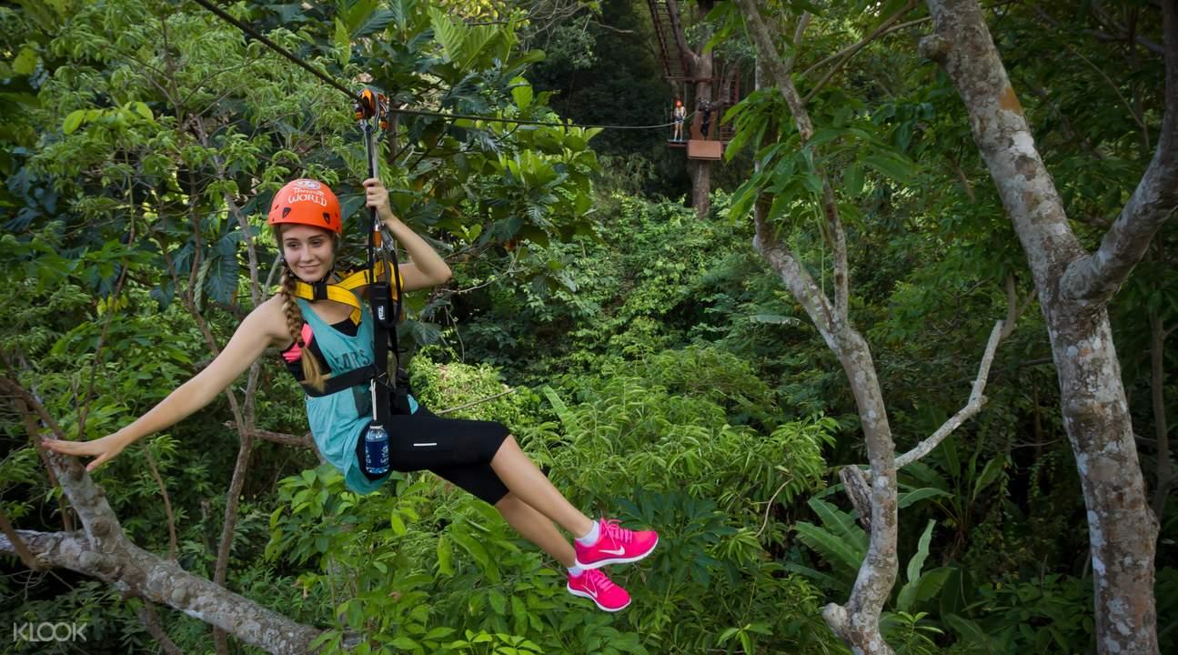 普吉岛丛林探险