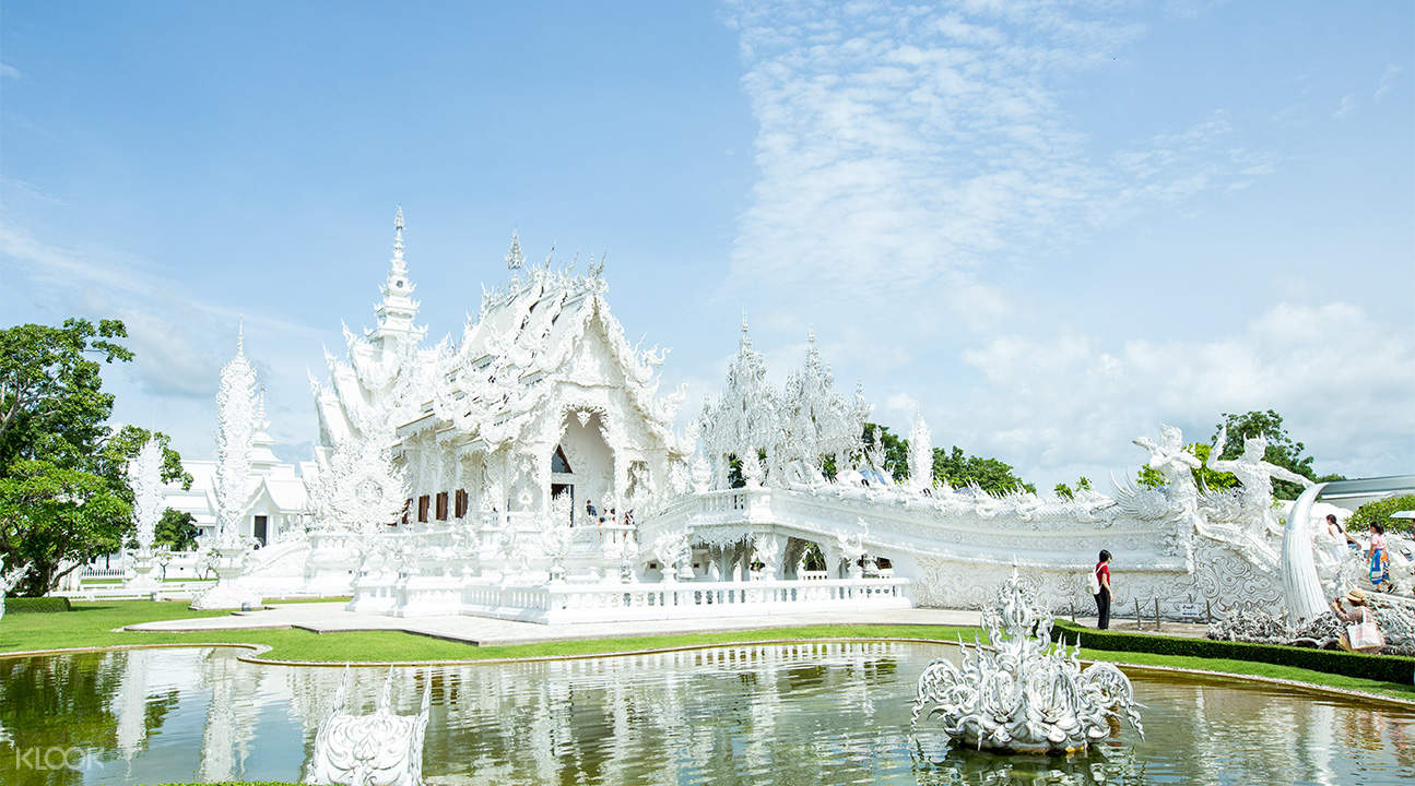 exterior of white temple