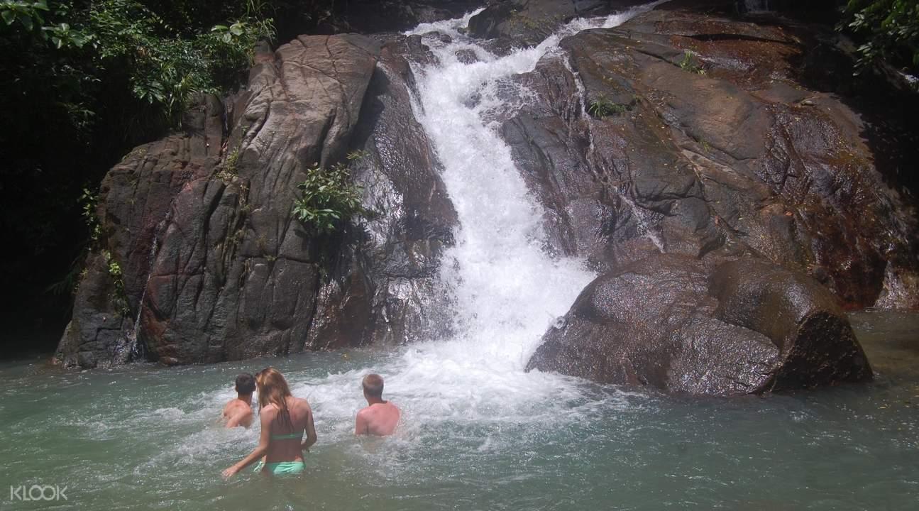 waterfall swimming