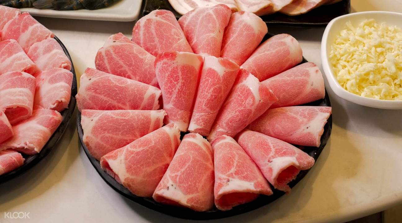 quality pork at Sukishi Buffet in Bangkok