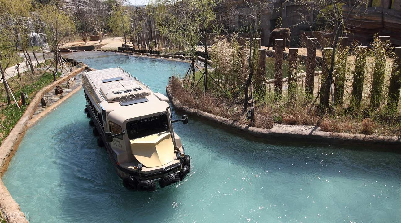 theme park truck driving on water