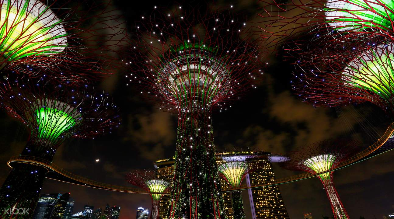 Gardens By The Bay Ocbc Skyway Klook Garden Adult Supertrees Light And Sound Show