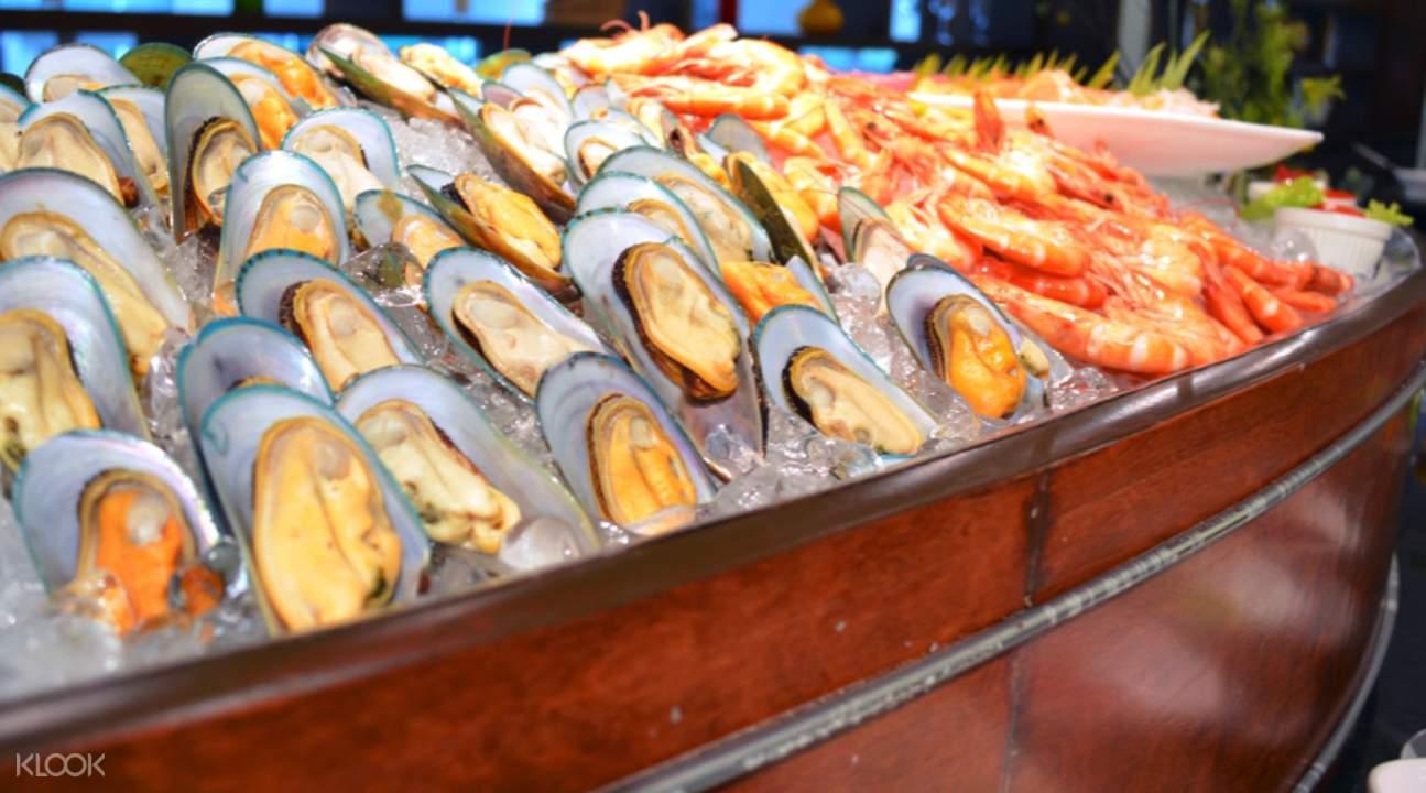 seafood buffet Gondola Restaurant at A-One Bangkok Hotel, Bangkok, Thailand
