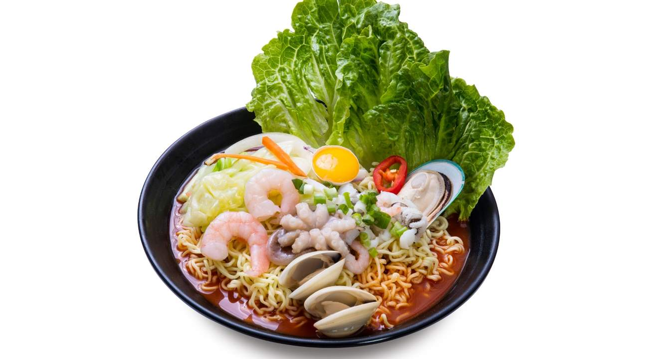 Spicy Seafood Ramen at Korea House in Mong Kok