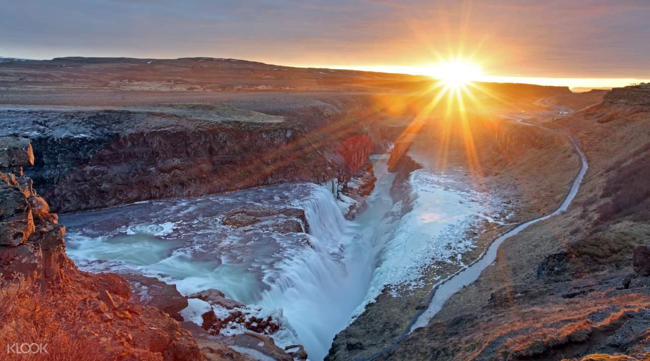 冰岛黄金瀑布