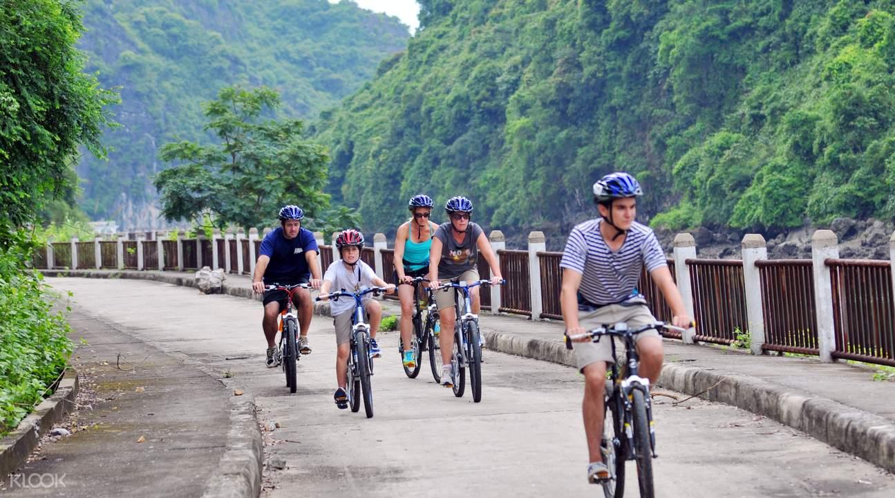 biking cat ba island