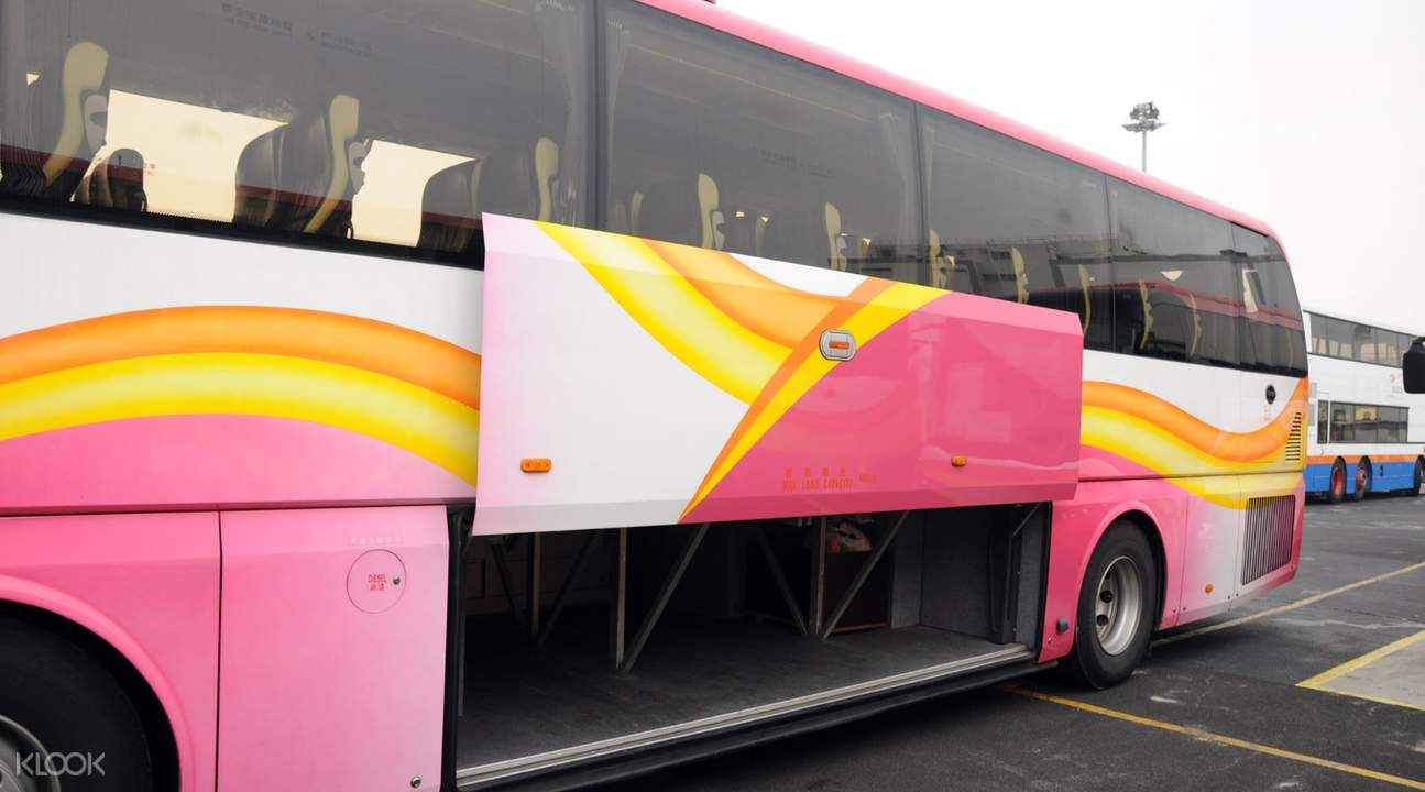 storage space for luggage of HKMO Express Bus