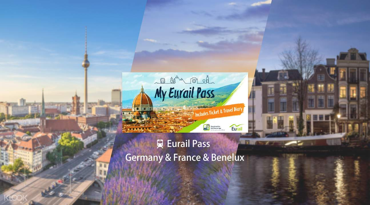 Eurail Pass for Germany, France & Benelux (5, 6, 8 or 10 Days)