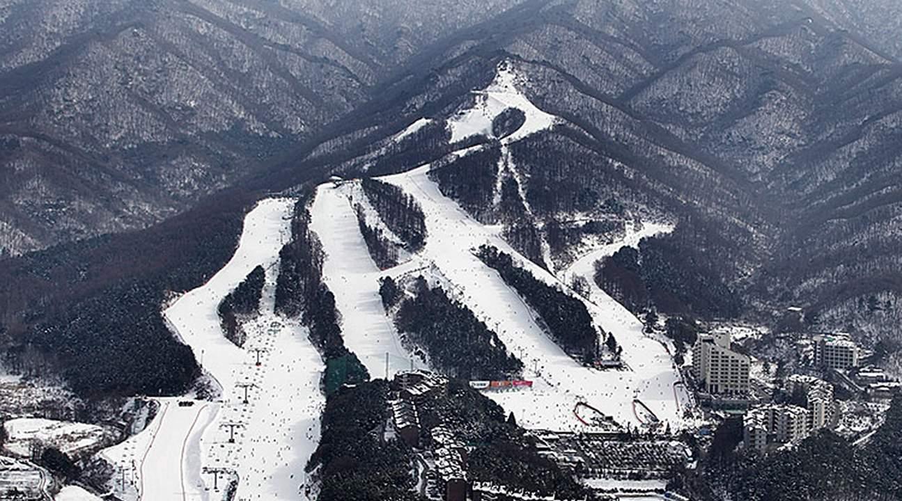 Panoramic view of Bears Town Ski Resort