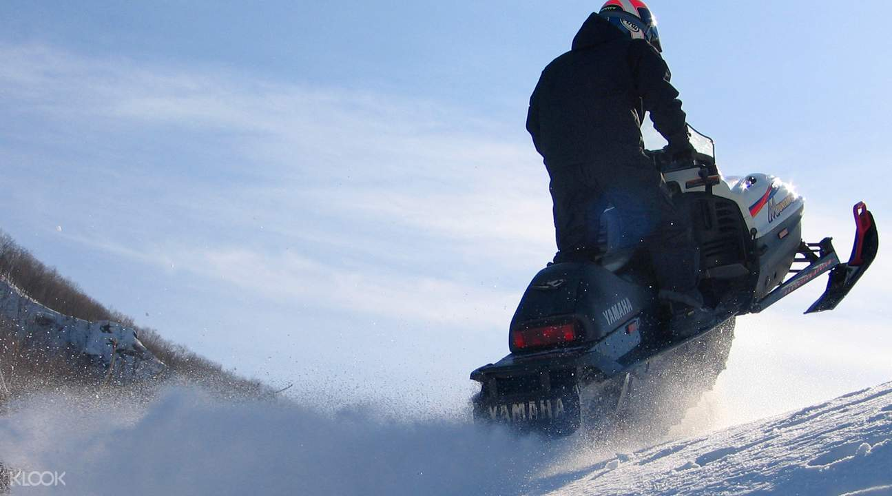 1 hour snowmobile experience in sapporo