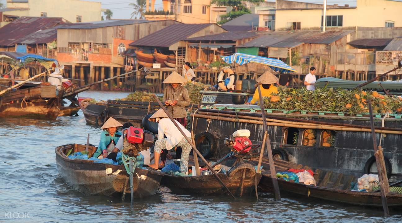 湄公河水上市场