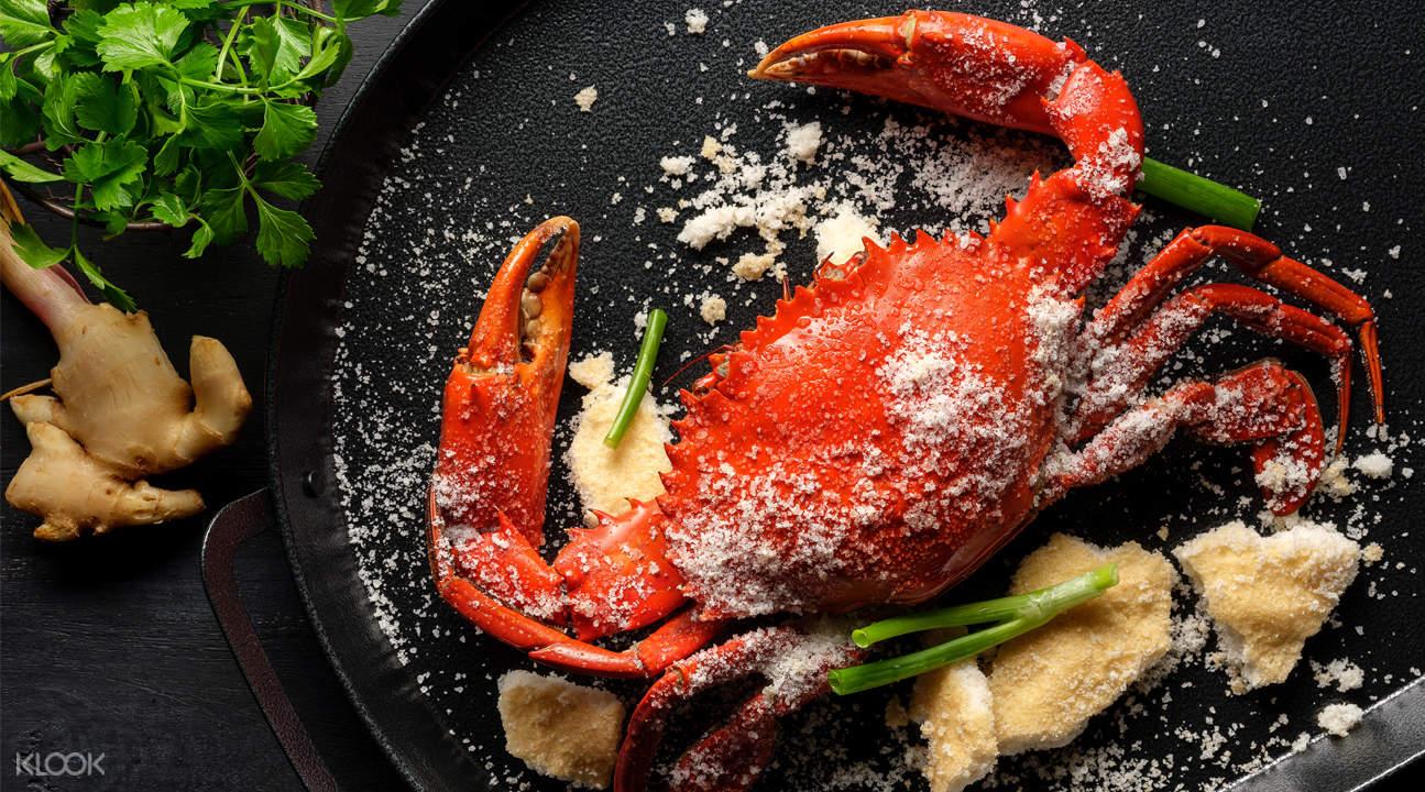 新加坡武吉士濱海賓樂雅酒店美芝路Ginger 岩鹽螃蟹