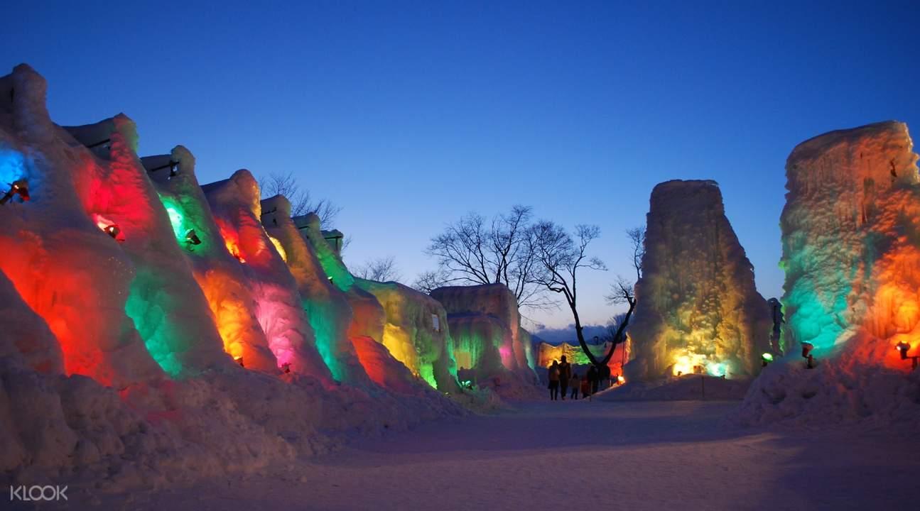 Lake Shikotsu ice Festival at night