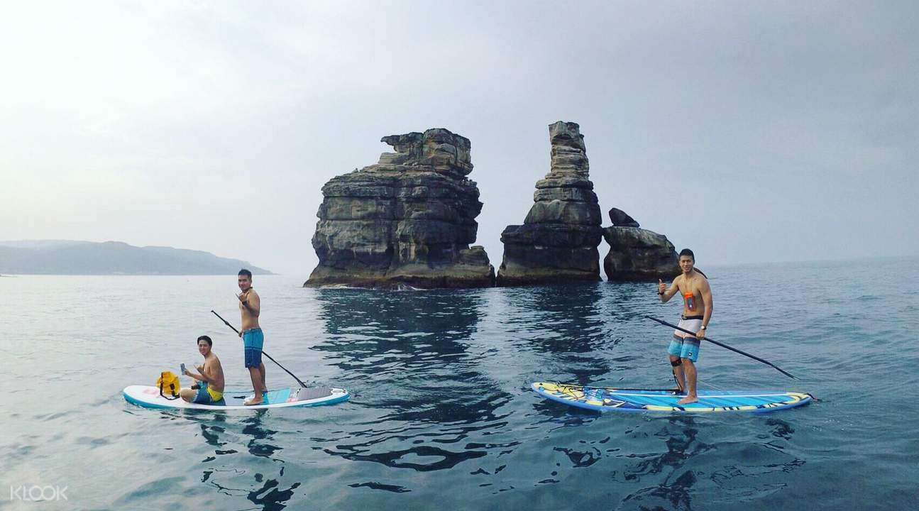SUP at Jinshan Zhutai Double Rock