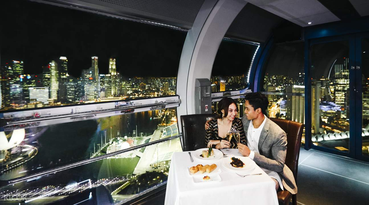 private singapore flyer sky dining capsule - 1295×720