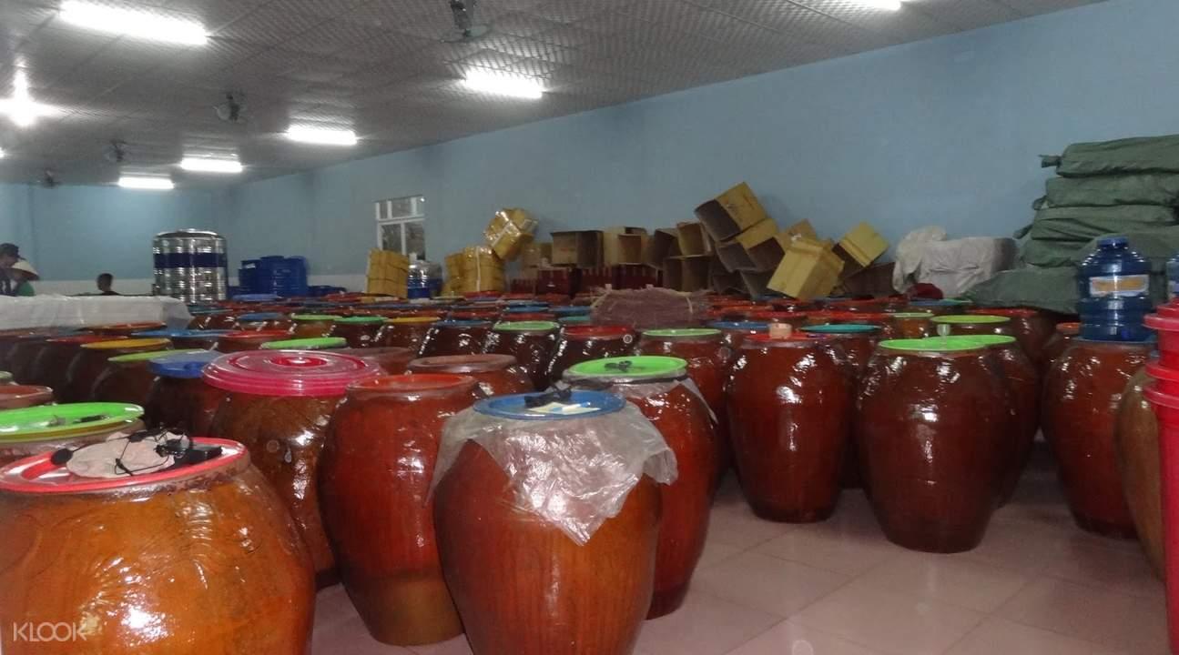 Phu Quoc Island fish sauce factory