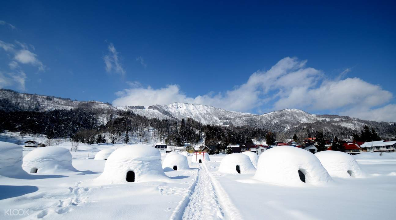 Nagano snow hut village huts