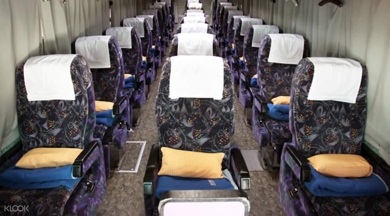 night highway bus interior