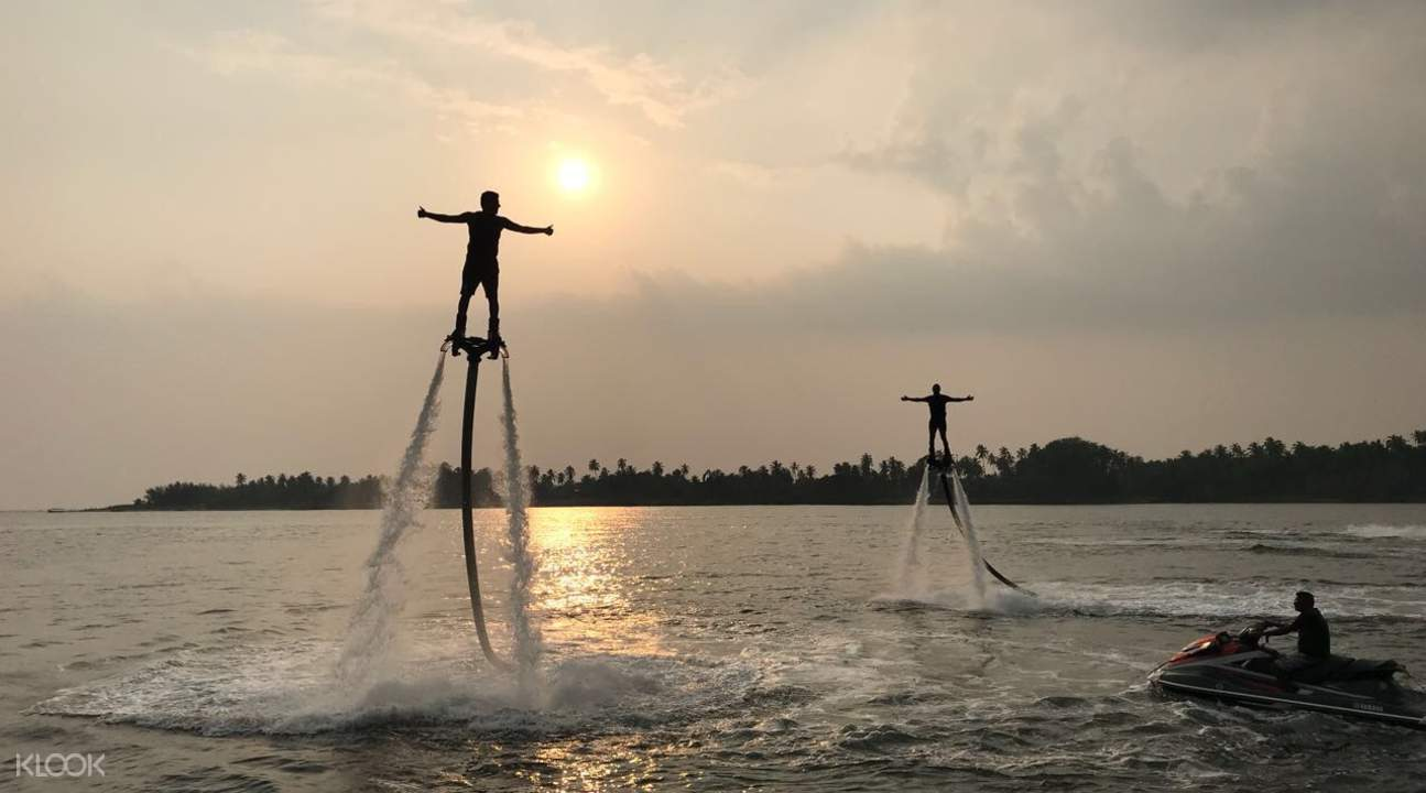Flyboard sunset