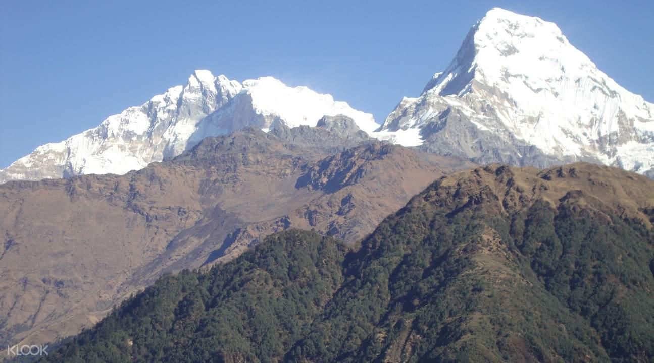 nepal mountain range Ghorepani Poon Hill Trek