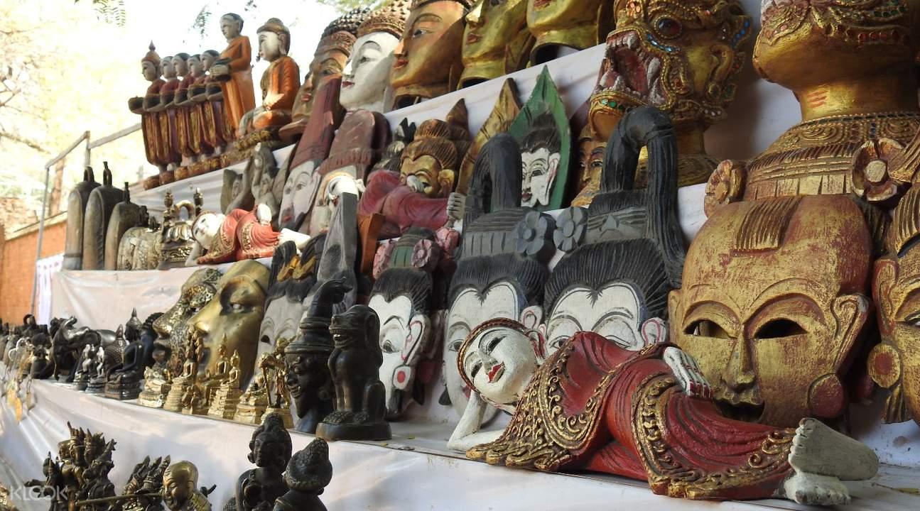 burmese masks Private Half Day Tour in Bagan, Myanmar