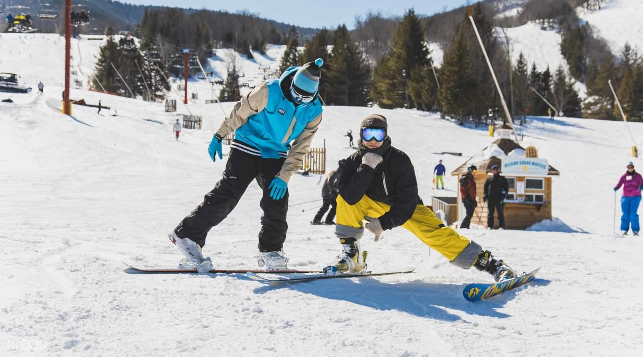 Hunter Mountain snowboarding and skiing