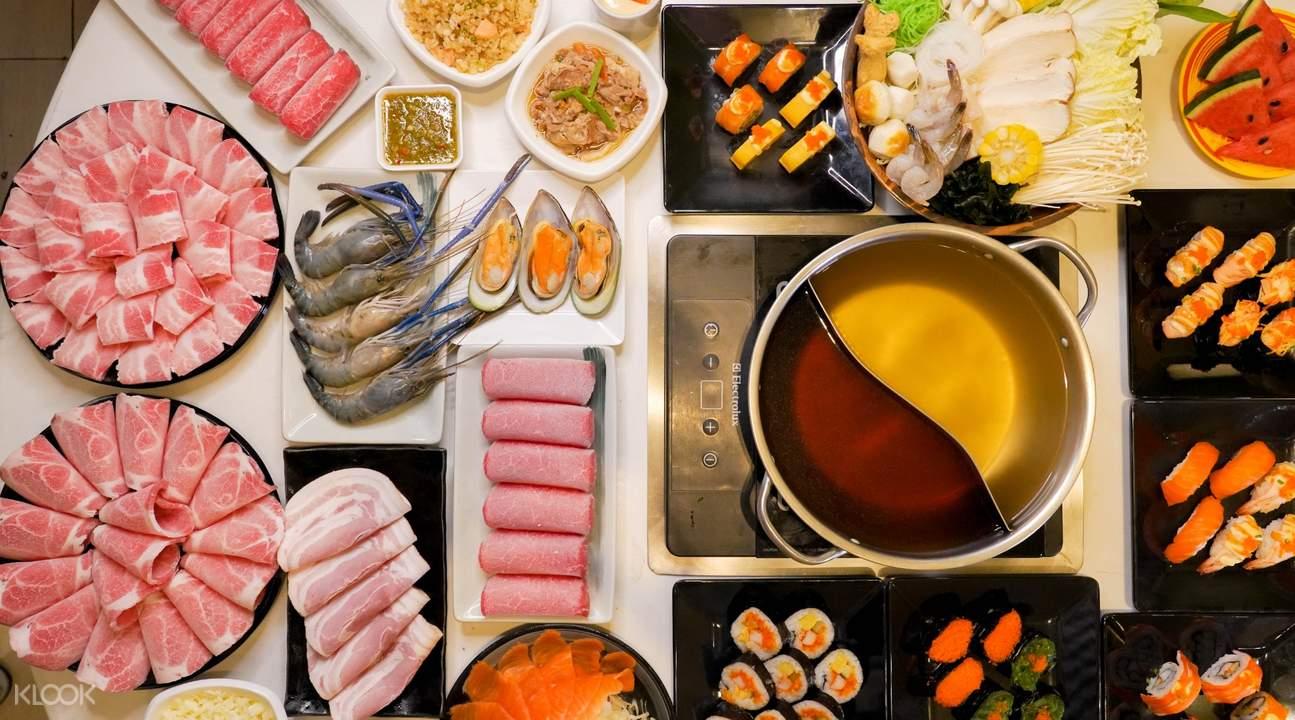 menu at Sukishi Buffet in Bangkok