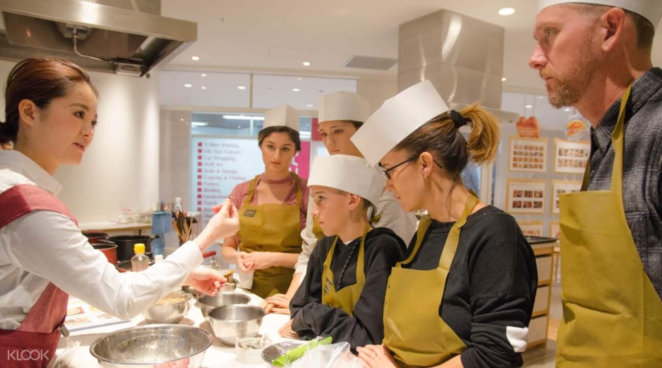 abc cooking studio japan, tempura cooking class tokyo, tempura cooking class japan, tempura gozen