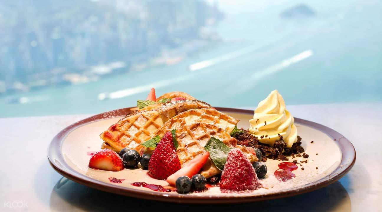 Cafe 100 waffle