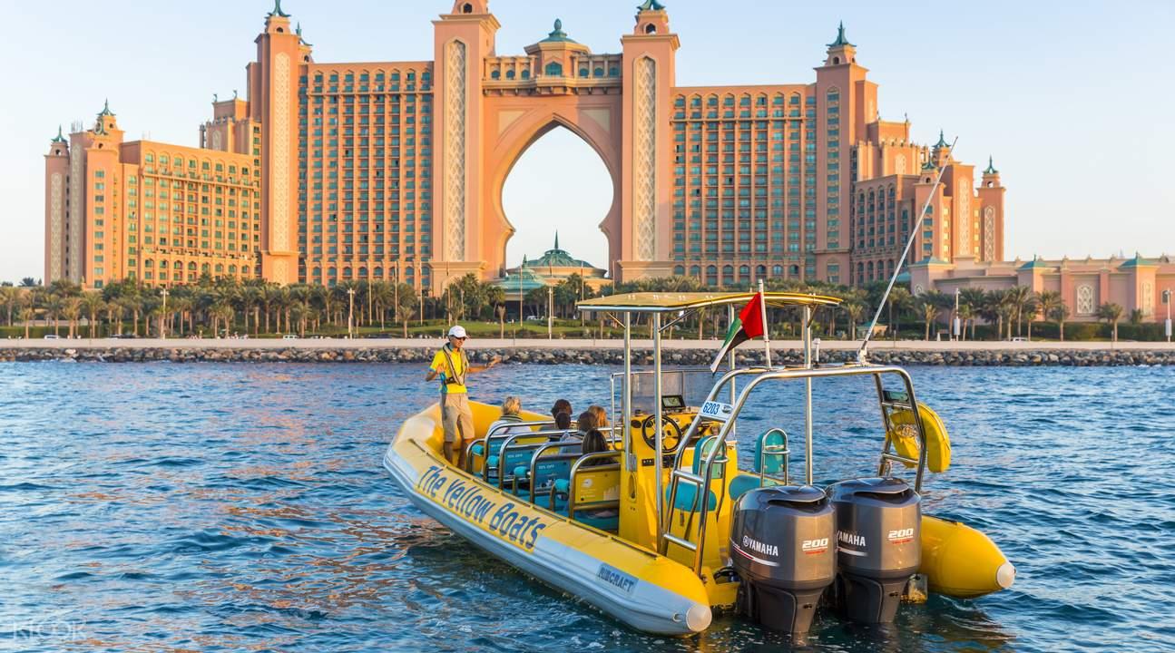 朱美拉棕榈快船游览,阿拉伯快船游览,迪拜滨海快船游览