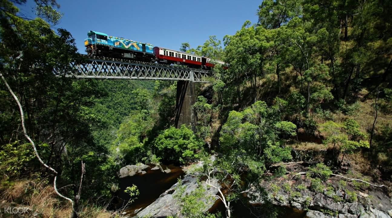 庫蘭達觀光火車一景