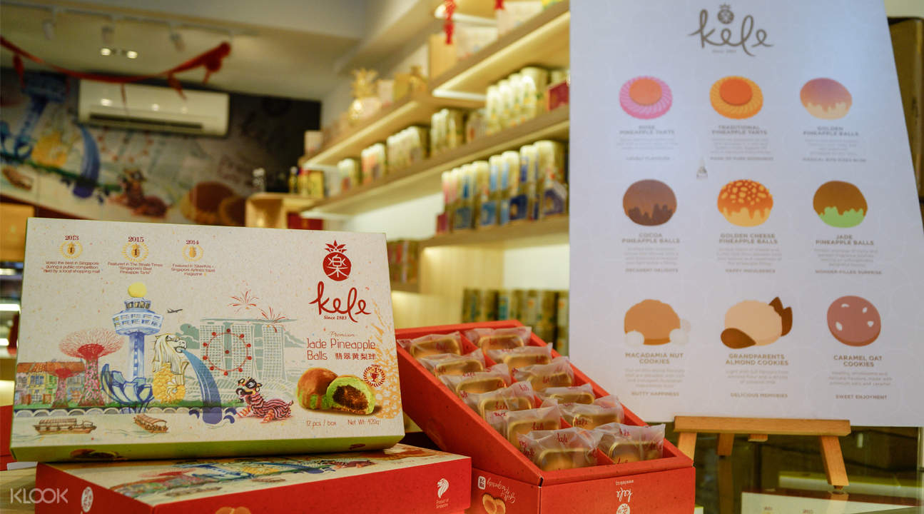 flavors kele pineapple tarts chinatown singapore