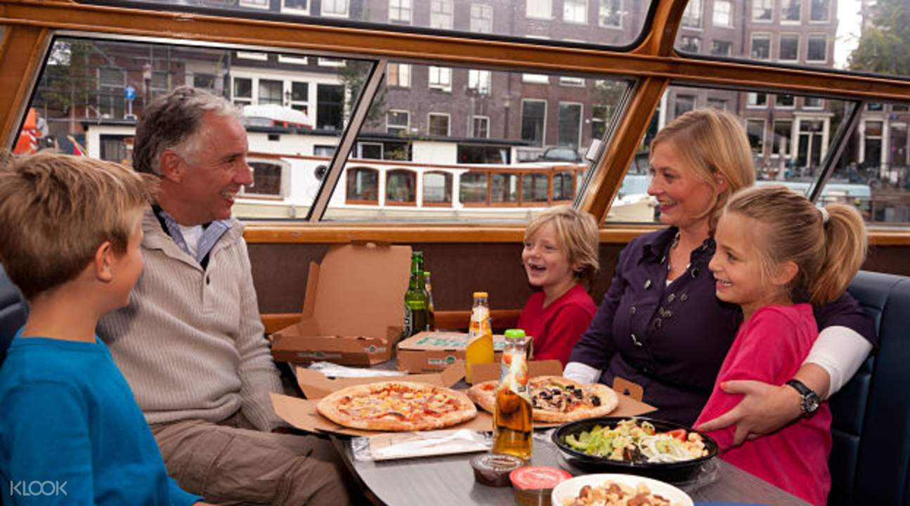 amsterdam dinner pizza cruise