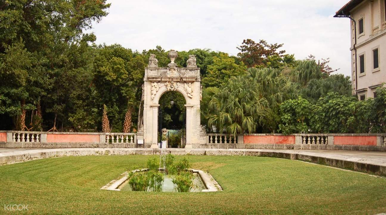 miami vizcaya museum and gardens admission ticket with transportation klook