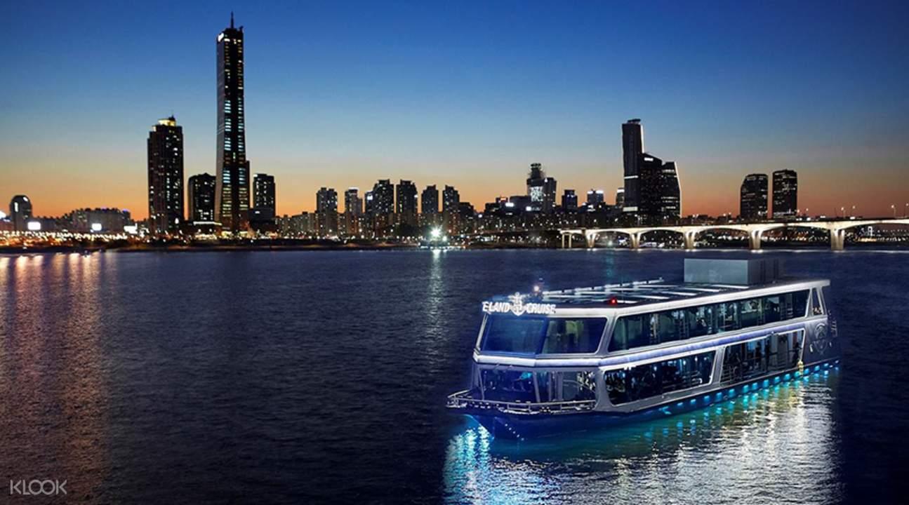 漢江遊船日落