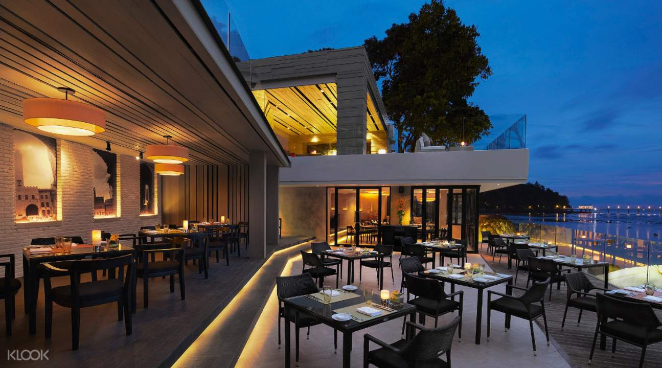 alfresco dining La Gritta at Amari Phuket Thailand