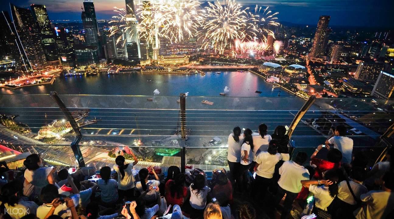 fireworks Marina Bay Sands Skypark Observation Deck admission ticket
