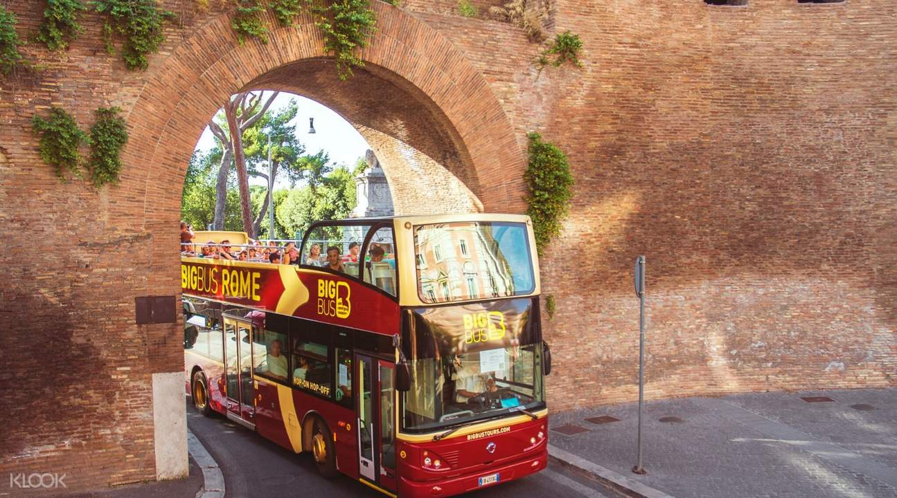 big bus tour rome