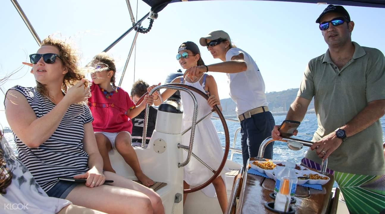巴塞罗那游船观光,巴塞罗那帆船观光,巴塞罗那帆船游,巴塞罗那海上之旅,巴塞罗那地中海观光