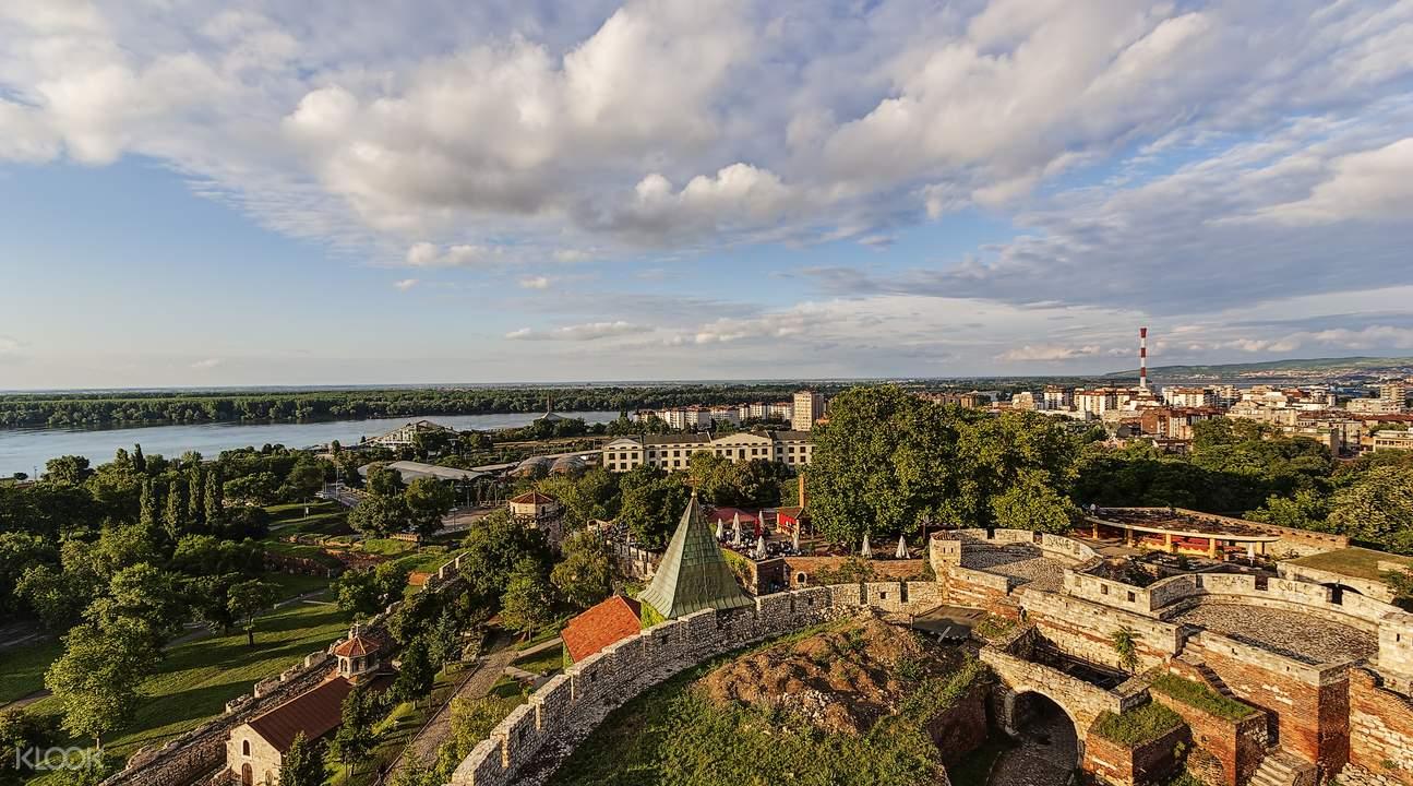 塞尔维亚贝尔格莱德城堡全景图
