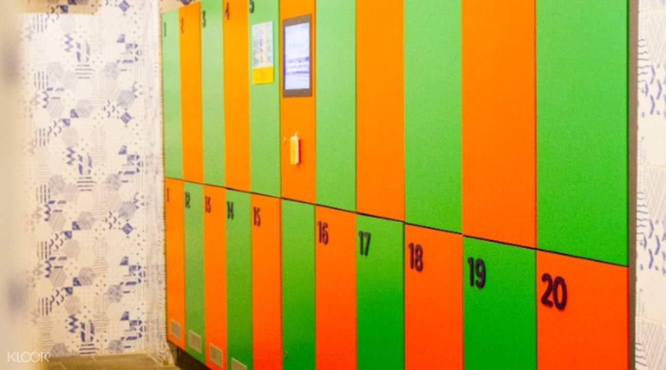 lockers in flowrider